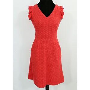 Tabitha Red V Neck Pocket Dress